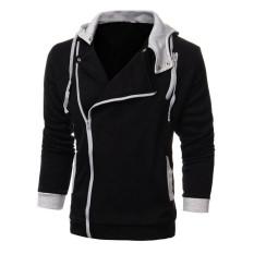 Large Size Mens Sports Sweater Zipper Jacket Hoodie Sweatshirts Black Oem Cheap On China
