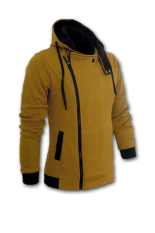 Large Size Mens Sprots Sweater Jacket Hoodie Zipper Sweatshirts Coffee Intl For Sale