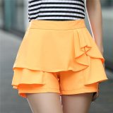 Shop For Mm Female Elastic Waist Slimming Loose Casual Divided Skirt Women S Shorts Orange Orange
