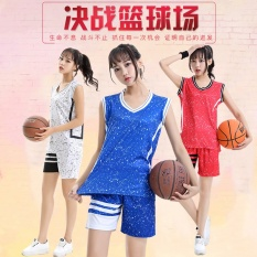 Latest Womens Casual Fashion Breathable Basketball Team Sports Jersey-Blue(wt1623) - Intl By Yicc Fashion Store.