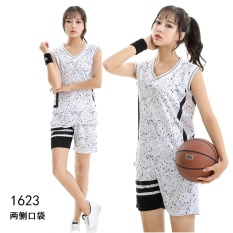 Latest Womens Casual Fashion Breathable Basketball Team Sports Jersey-White(wt1623) - Intl By Yicc Fashion Store.