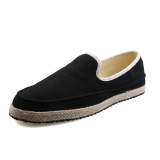 Purchase Lbw Mens Pure Straw Canvas Shoes Black