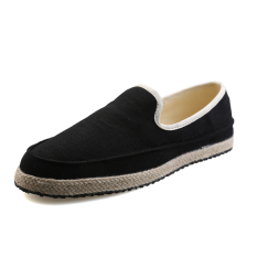 Lbw Mens Pure Straw Canvas Shoes Black Coupon Code
