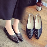 Buy Lcfu764 Eu 35 41 Women Casual Flower Ballet Slip On Flats Single Shoes Black Intl Cheap China