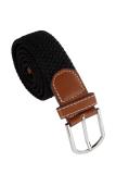 Leather Braided Elastic Stretch Metal Buckle Belt Black Price