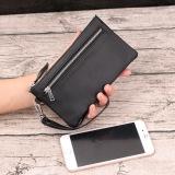 Leather Clutch Bag Zip Wallet Men Wallet Black Double Zipper Edition Black Double Zipper Edition In Stock