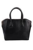 Leather Frosted Shoulder Bags Black Intl Shop