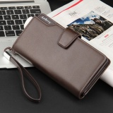 Compare Prices For Leather Long Wallet Men Pruse Male Clutch Zipper Wallets Money Bag Pocket Intl