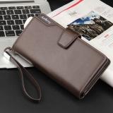 Cheapest Leather Long Wallet Men Pruse Male Clutch Zipper Wallets Money Bag Pocket Intl