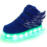Led Light Lovely Sneakers G*rl S Boys Wings Children S Shoes Blue For Sale Online