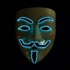 Cheap Led Light Up Vendetta Anonymous Guy Fawkes Neon Rave Halloween Cosplay Mask Intl Online