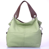 Leegoal Fashion Retro Style Pu Leather Messenger Bag Tote Bag For Women Green In Stock