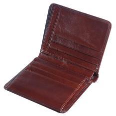 leegoal FOONEE Mens Genuine Leather Wallet,First Layer Bifold Oil Wax Wallet Dermis Leather Wallet, Coffee - intl