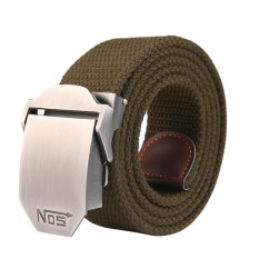 leegoal Men Extra Long Canvas Web Belt - Automatic Buckle -Military Style ,  Army Green - intl