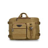 Sale Leisure Canvas Backpack Computer Bag Multifunction Shoulder Messenger Bag Khaki Intl Oem Wholesaler