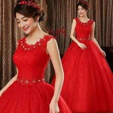 Compare Leondo Two Color Choose Bridal Dress For Wedding Gowns Floor Length Shift Dress With A Tailored Red Intl Prices