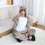 Cheaper Leopard Bear Pajamas Unisex Adults Animal Onesies Flannel Hoodie Cosplay Costume Onesies Pyjamas Sleepwear Home Clothes Intl