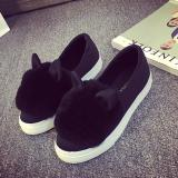 Low Price Leyi Fashion Design And Comfortable Light Mouth Low Help Shoes With Flat Sole Black Intl