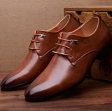 Buying Leyi Men S Business Breathable Comfortable Fashion Dress Shoes Brown Intl