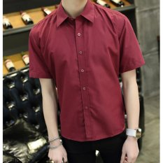 Leyi Men S Casual Fashion Shirts Red Intl For Sale