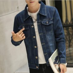 The Cheapest Leyi Men S Leisure Fashion Denim Jacket Blue Intl Online
