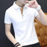 Discount Leyi Men S Short Sleeved T Shirt Slim Shirt Polo Cotton Half Sleeve White Intl Leyi