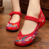 Buy Leyi Ms Old Beijing Phoenix National Wind And Comfortable Cloth Shoes Red Intl Oem Cheap