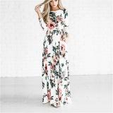 Price Comparisons Of Liebe Engel Fashion Floral Print Beach Dresses Long Sleeve Summer Womens Chiffon Maxi Dress Intl