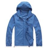 Deals For Lightweight Outdoor Sports Sunscreen Windbreaker Jacket Blue