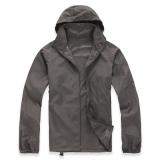 Lightweight Outdoor Sports Sunscreen Windbreaker Jacket Grey Cheap