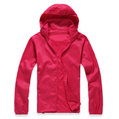 New Lightweight Outdoor Sports Sunscreen Windbreaker Jacket Red