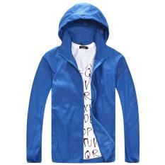 Sale Lightweight Anti Uv Outdoor Hoodie Cycling Running Windbreaker Jacket Blue Intl On China
