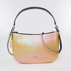 Buy Limited Edition Coach F37158 Hologram Leather Chelsea Crossbody Gold Silver Online Singapore