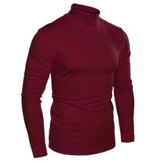 Sale Linemart Coofandy Men Fashion Slim Fit Thermal Underwear Turtleneck Long Sleeve Solid T Shirts Wine Red Intl Online On China