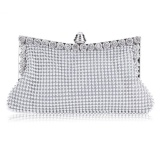 Compare Linemart New Clutch Casual Women S Handbag Lady Party Crystal Evening Bags Silver Intl