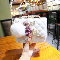 Discount Ling Ge Korean Style Female Autumn Winter Hua Duo Bao White Oem