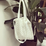 Buy Lingge Mori G*rl Porous Double Layer Lace Eco Friendly Bag Portable Canvas Bag Black Online