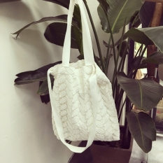 Price Lingge Mori G*rl Porous Double Layer Lace Eco Friendly Bag Portable Canvas Bag Black China