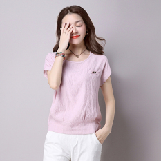 Price Comparisons For Women S Cotton Linen Blouse White Light Gray Pink Pink Pink