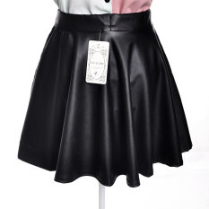 Price Comparison For Liva G*rl Fashion Women Pu Leather Puff Skirt For All Purpose Black