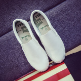 Review Loafers Korean Style Black White Female Pedal Women S Shoes Loafers White On China