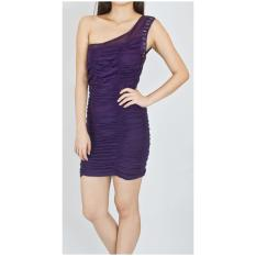 How To Buy Loef Crystals Ruched Toga In Purple