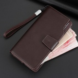 How Do I Get Long Men Wallet Leather Hand Bag Credit Card Coin Holders With Hand Strap Brown Intl