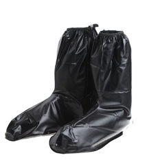 Long Rainy Day Rain Protective Reusable Waterproof Shoes Cover Black Xl(42-43) By Stoneky.