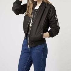 Wholesale Long Sleeve Slim Jackets Zanze A Women 2016 Autumn Winter Vintage Stand Collar Celeb Bomber Coats Casual Solid Outwear Plus Size Black