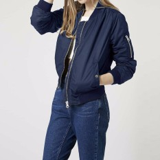 Discount Long Sleeve Slim Jackets Zanze A Women 2016 Autumn Winter Vintage Stand Collar Celeb Bomber Coats Casual Solid Outwear Plus Size Navy