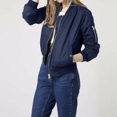 Store Long Sleeve Slim Jackets Zanze A Women 2016 Autumn Winter Vintage Stand Collar Celeb Bomber Coats Casual Solid Outwear Plus Size Navy Zanzea On China