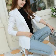 Best Buy Long Sleeve Women Blazers Jackets Suit Spring Autumn Single Button Female Ladies Blazer White Intl