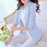 Sale Long Sleeve Women Blazers Jackets Suit Spring Autumn Single Button Female Ladies Blazer Sky Blue Intl Online China