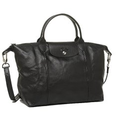 Buy Longchamp 1515 Le Pliage Cuir Satchel Black Online Singapore